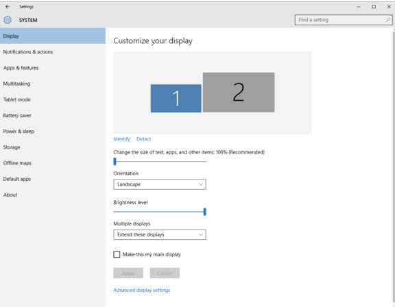 Изменение разрешения экрана - Windows - Microsoft