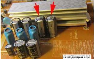 vzdutie kondensatory