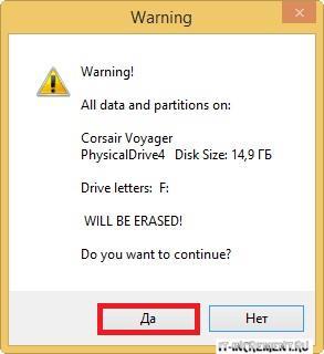 warning all data
