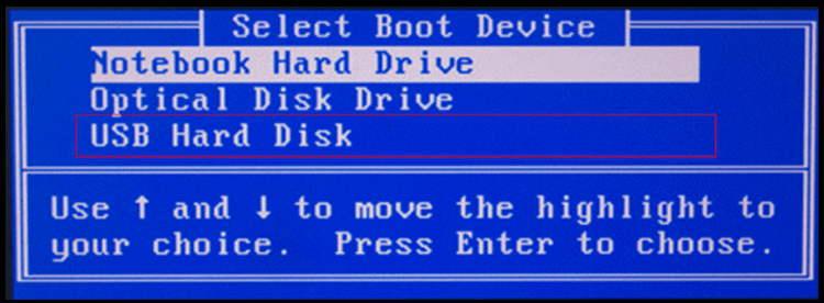 bios usb hard disk