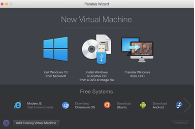 virtual machin macbook