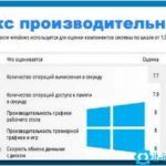 index proizvoditelnosti windows